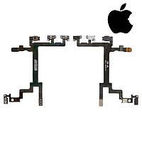 Шлейф для iPhone 5, кнопок звука, кнопки включения, с компонентами, оригинал