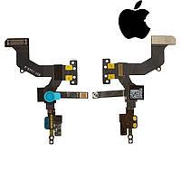 Шлейф для iPhone 5, c датчиком приближения, с камерой, с компонентами, оригинал