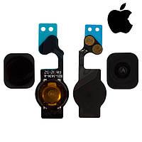 Шлейф для iPhone 5, кнопки меню, черный, оригинал