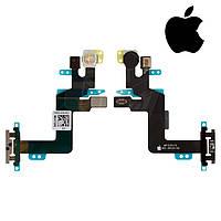 Шлейф для Apple iPhone 6S Plus, кнопки включения, вспышки, с микрофоном, оригинал