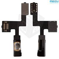 Шлейф для Meizu MX2, кнопки включения, с компонентами, оригинал