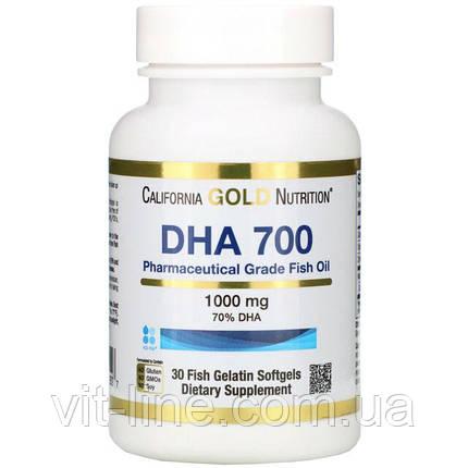 California Gold Nutrition, DHA 700, рыбий жир фармацевтической степени чистоты, 1000 мг, 30 капсул, фото 2