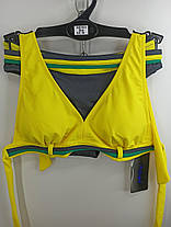 Купальник шторки бикини Sisianna 59903 желтый на 40 42 44 46 48 размер, фото 2