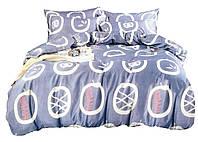 Комплект постельного белья Сатин Dalwin 081 M&M 4722 Синий, Белый
