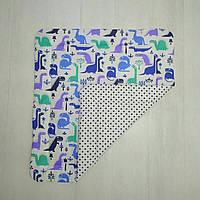 Детское хлопковое одеяло Т.М.Миля Голубые дракончики 80 х 85 см