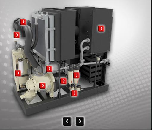 Гвинтовий компресор маслозаповнений морський, модель R90-160 Marine Unenclosed Sea Water Cooled