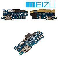 Шлейф для Meizu M2, коннектора зарядки, с компонентами, плата зарядки, оригинал