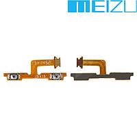 Шлейф для Meizu M1, кнопок звука, с компонентами, оригинал