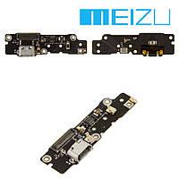 "Шлейф для Meizu MX4 Pro 5.5"", коннектора зарядки, с компонентами, плата зарядки, оригинал"