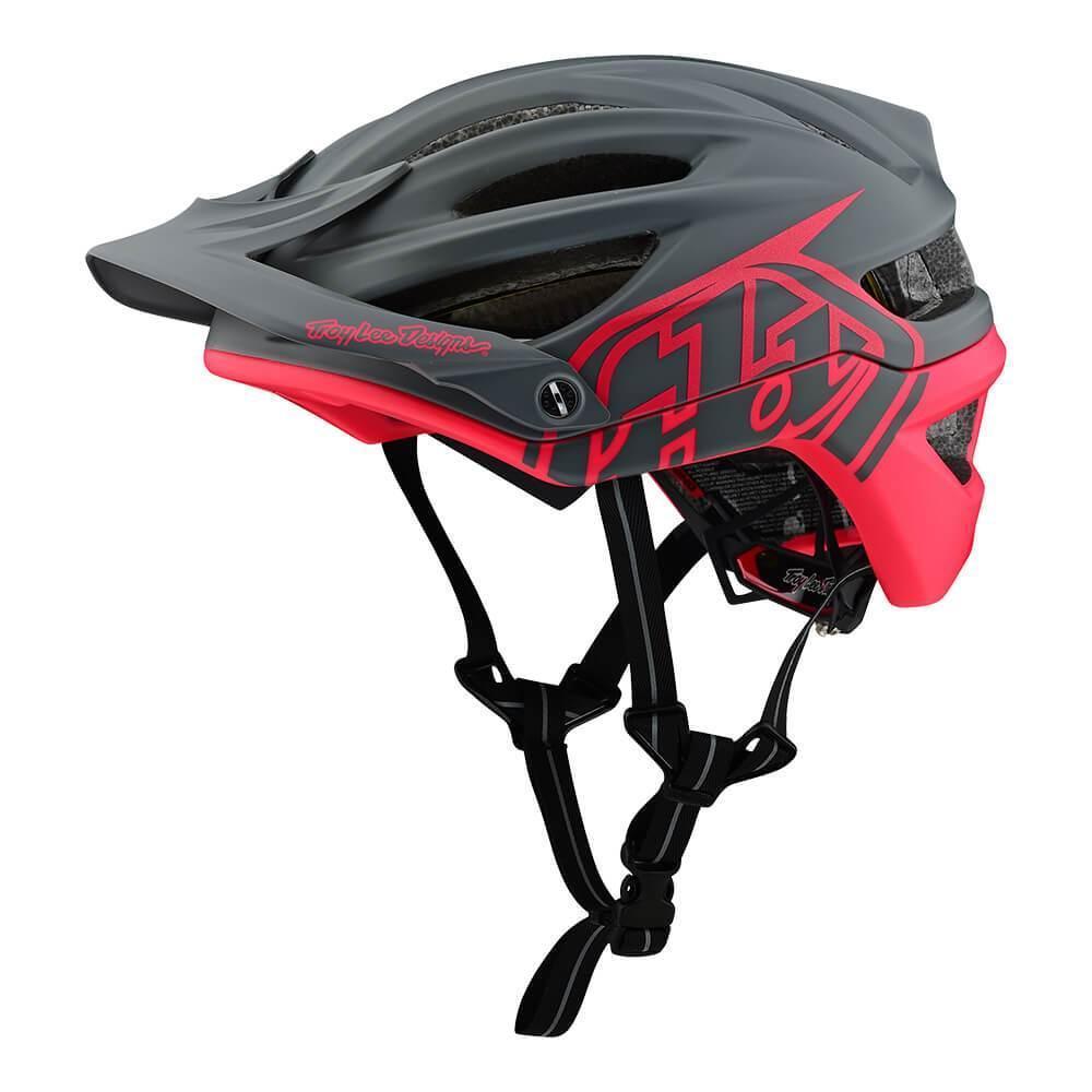 Велошлем Troy Lee Designs TLD A2 MIPS Decoy (Dark Gray / Flo Pink) размер XL/XXL