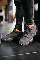 Кроссовки женские весенние осенние качественные модные Adidas Yeezy Boost 500 Utility Black