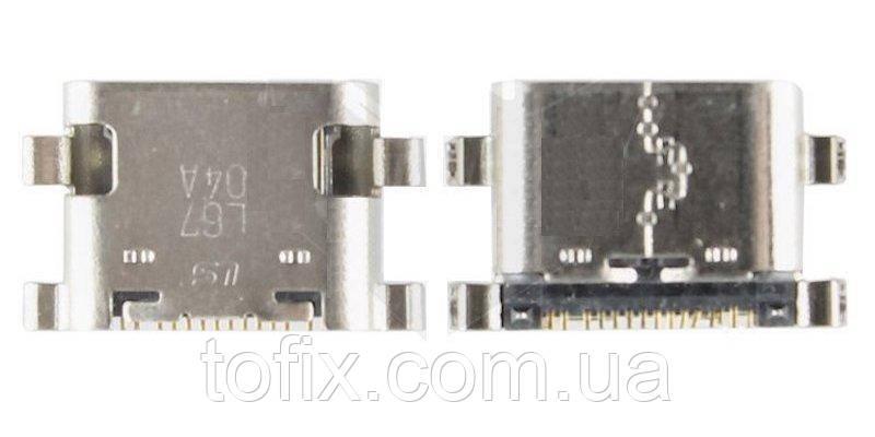 Коннектор для зарядки ZTE ZMAX Pro Z981, USB тип-C, оригінал