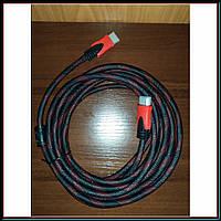 HDMI-HDMI кабель усиленная обмотка 5м