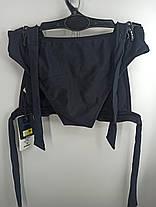 Купальник шторки бикини Sisianna 59903 черный на 40 42 44 46 48 размер, фото 3