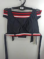 Купальник шторки бикини Sisianna 59903 черный на 40 42 44 46 48 размер