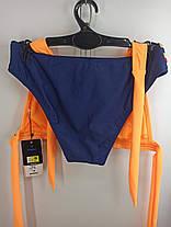 Купальник шторки бикини Sisianna 59903 оранжевый на 40 42 44 46 48 размер, фото 3