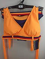 Купальник шторки бикини Sisianna 59903 оранжевый на 40 42 44 46 48 размер