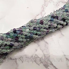 3 мм Флюорит, Натуральный камень, Форма: Граненый Шар, Длина: 40 см, фото 2