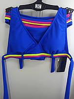 Купальник шторки бикини Sisianna 59903 синий на 40 42 44 46 48 размер