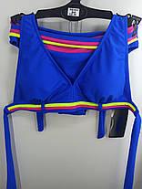 Купальник шторки бикини Sisianna 59903 синий на 40 42 44 46 48 размер, фото 2