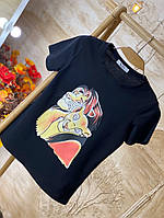 Черная футболка с персонажем король лев, фото 1