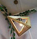 Подвесной светильник из первосортного дерева, треугольная форма, современный стиль, натуральное дерево, loft, фото 2