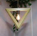 Подвесной светильник из первосортного дерева, треугольная форма, современный стиль, натуральное дерево, loft, фото 3