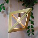 Подвесной светильник из первосортного дерева, треугольная форма, современный стиль, натуральное дерево, loft, фото 4