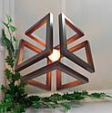 Подвесной светильник из первосортного дерева, современный стиль, бесконечный контур квадрата, фото 3