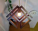 Подвесной светильник из первосортного дерева, современный стиль, бесконечный контур квадрата, фото 5