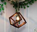Подвесной светильник из первосортного дерева, современный стиль, бесконечный контур квадрата, фото 8