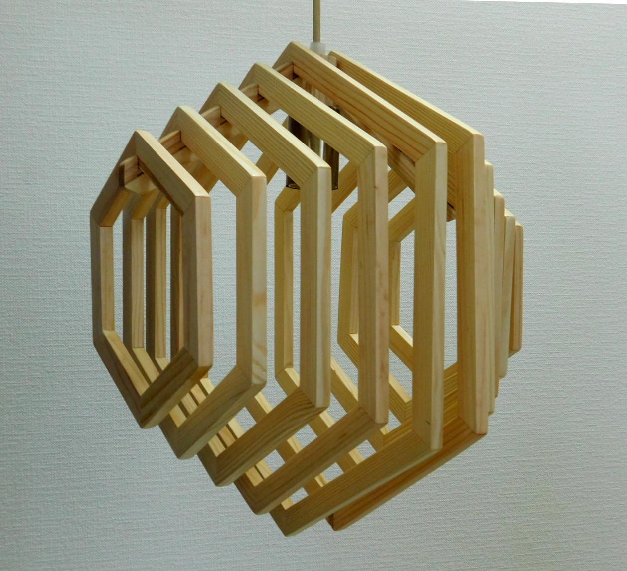 Люстра лофт из дерева Е27 кольца ХБС-6