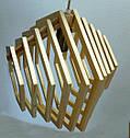 Люстра лофт из дерева Е27 кольца ХБС-6, фото 2