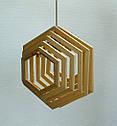 Люстра лофт из дерева Е27 кольца ХБС-6, фото 3