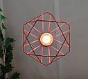 """Подвесной металлический светильник, современный стиль, loft, vintage, modern style """"CLASSIC-R"""" Е27 красны цвет, фото 2"""