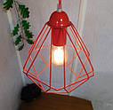 """Подвесной металлический светильник, современный стиль, loft, vintage, modern style """"CLASSIC-R"""" Е27 красны цвет, фото 3"""