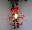 """Подвесной металлический светильник, современный стиль, loft, vintage, modern style """"CLASSIC-R"""" Е27 красны цвет, фото 4"""