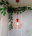 """Подвесной металлический светильник, современный стиль, loft, vintage, modern style """"CLASSIC-R"""" Е27 красны цвет, фото 8"""