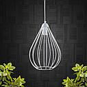 """Подвесной металлический светильник, современный стиль, loft, vintage, modern style """"KAPLIA"""" Е27 черный цвет, фото 4"""