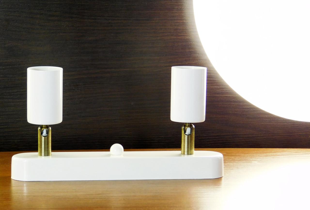 """Настенный светильник, спот поворотный """"SLEEVE-2W"""" на две лампы, белый цвет"""