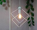 """Подвесной металлический светильник, современный стиль, loft, vintage, modern style """"CUBE-W"""" Е27  белый цвет, фото 2"""