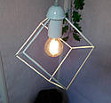 """Подвесной металлический светильник, современный стиль, loft, vintage, modern style """"CUBE-W"""" Е27  белый цвет, фото 5"""