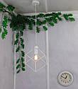 """Подвесной металлический светильник, современный стиль, loft, vintage, modern style """"CUBE-W"""" Е27  белый цвет, фото 8"""