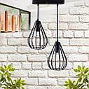"""Подвесной металлический светильник, современный стиль, loft, vintage, modern style """"KAPLIA-2RM"""" Е27  красный, фото 4"""