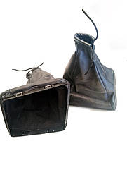 Чехол ручки кпп с рамкой кожа LADA Priora ЛАДА Приора черный