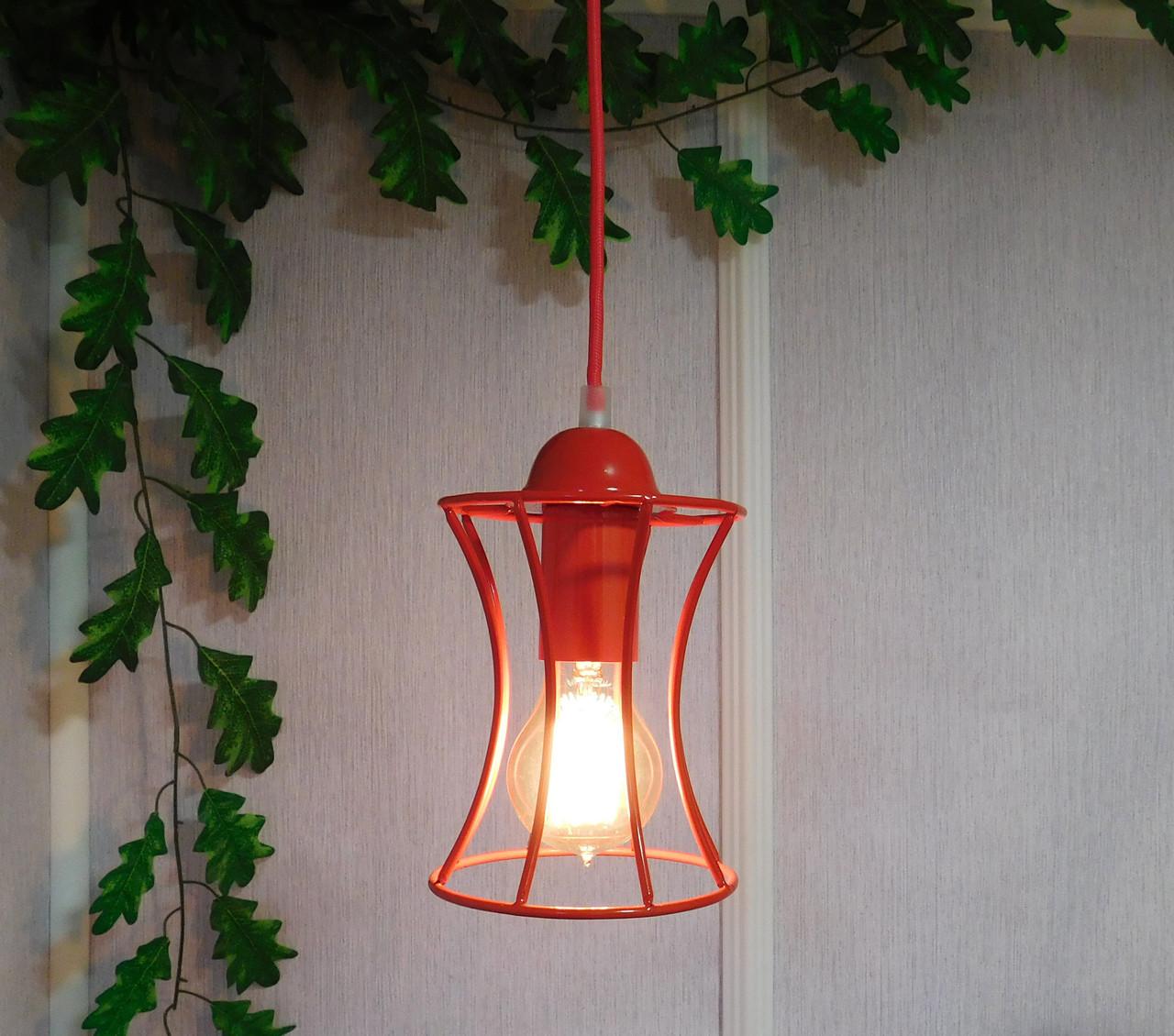 """Подвесной металлический светильник, современный стиль, loft, vintage, modern style """"SANDBOX-R"""" Е27  красный"""