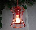 """Подвесной металлический светильник, современный стиль, loft, vintage, modern style """"SANDBOX-R"""" Е27  красный, фото 3"""