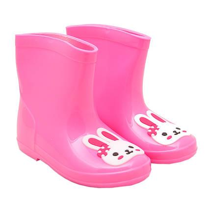 Резиновые сапоги детские, розовые размер 27 (17 см) (513764-3)