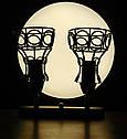 """Настенный светильник, спот поворотный, потолочная лампа, на две лампы, черный цвет """"RINGS/LS-2"""", фото 2"""