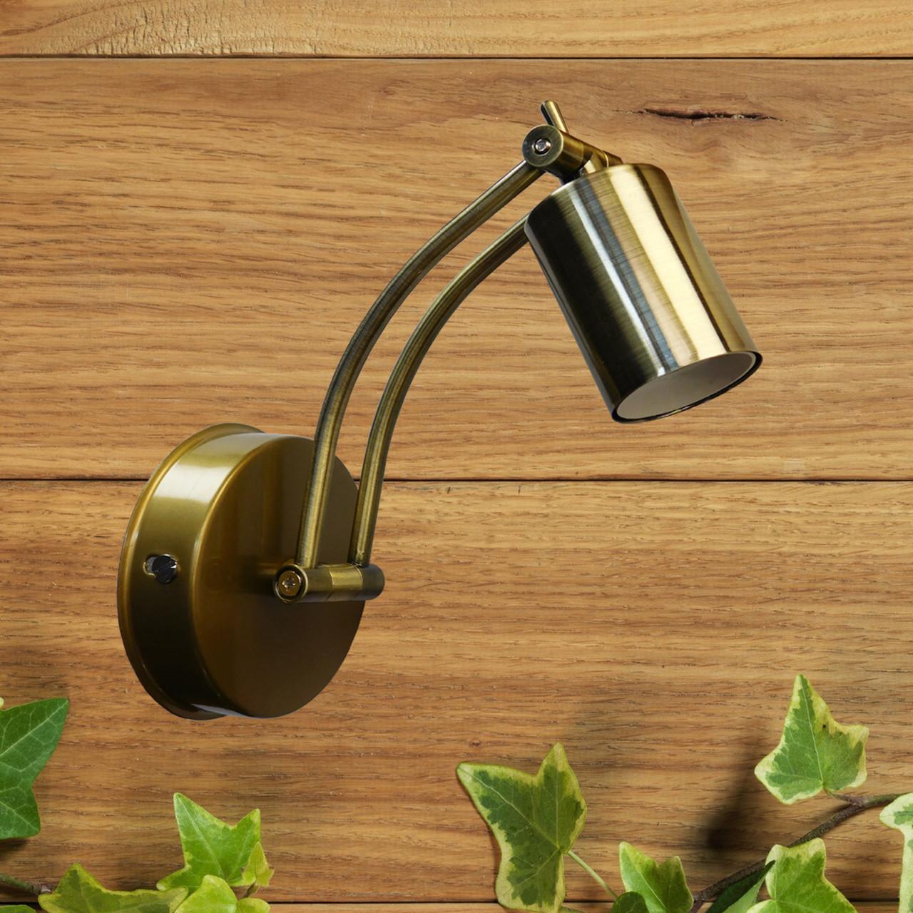 """Настенный светильник, спот поворотный, потолочная лампа, на одну лампу, золотистый цвет """"SWIPE"""""""